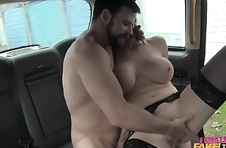 Huge tits and doggystyle in a cab in reality style
