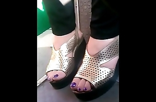candid mature feet in bus closeup CAM07034-36 HD