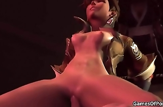 Overwatch Tracer Gets Fucked -