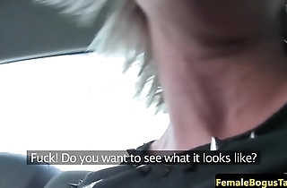 Female taxi driver pussylicked by ginger brit