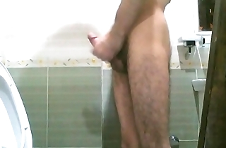 jerking off while standing
