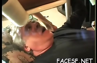 Lucky man gets face smothered