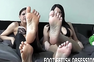 My feet are making you so hard