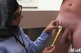 Cock-sucking by a busty arab chick