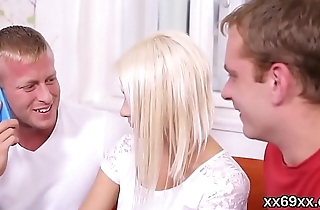Boyfriend assists with hymen examination and reaming of virgin nympho