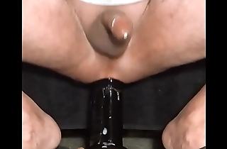 cum twice riding monster dildo