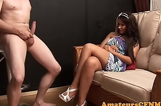 British CFNM babe gives an amazing handjob