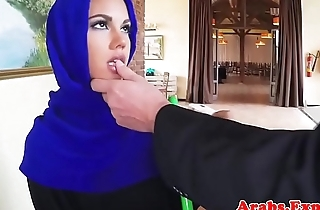 Beautiful muslim paid to get fucked