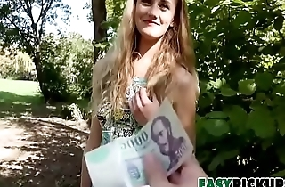 Cute As A Button Linda Leclair Bribed For BJ With Cash