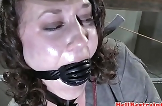 Restrained sub caned and interracialy fucked