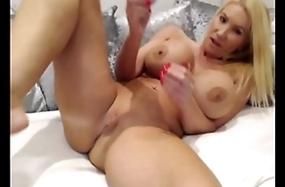 PVC slut Sophie James fucks her pussy with a big toy real orgasm !!