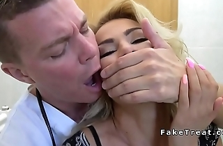 Doctor bangs blonde behind hubbys back