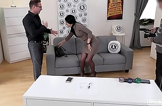 EXPOSED CASTING - Slovak babe Lucia Denville takes big cock in naughty audition