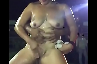 Dirty dance with couple in park,