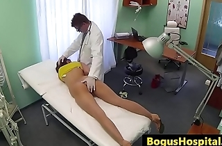 Cocksucking euro amateur fucks her doctor