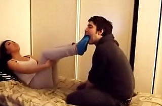 Asian girl gets her socks and feet worshipped - watch more on xfetish.net