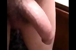 heavy hung cock bounces in slow-motion